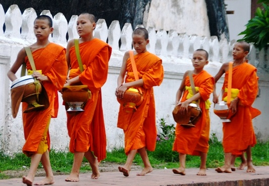 Laos - Monks in Luang Prabang