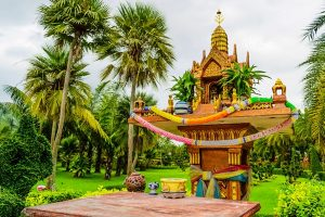 Spirit houses of Southeast Asia in Bangkok